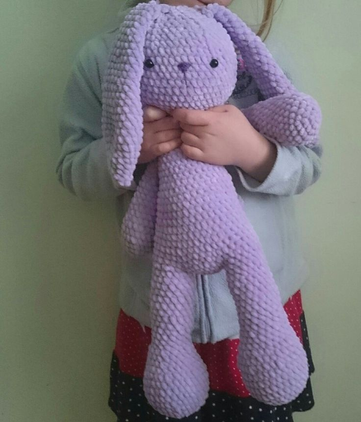 Crochet  toy rabbit. Big size.