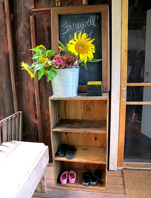 Shoe Storage By The Front Door Front Door Pinterest