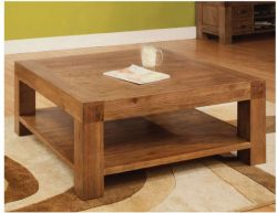 Rustic Oak Coffee Table - 1000mm x 1000mm gives a cool and peaceful ambience throughout the room space http://solidwoodfurniture.co/product-details-oak-furnitures-3109-rustic-oak-coffee-table-mm-x-mm-.html