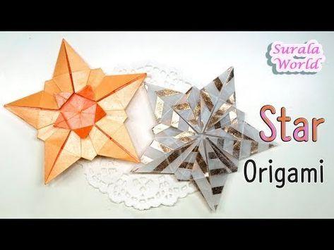 Papierfalten Origami Stern Christbaumschmuck Youtube Stars
