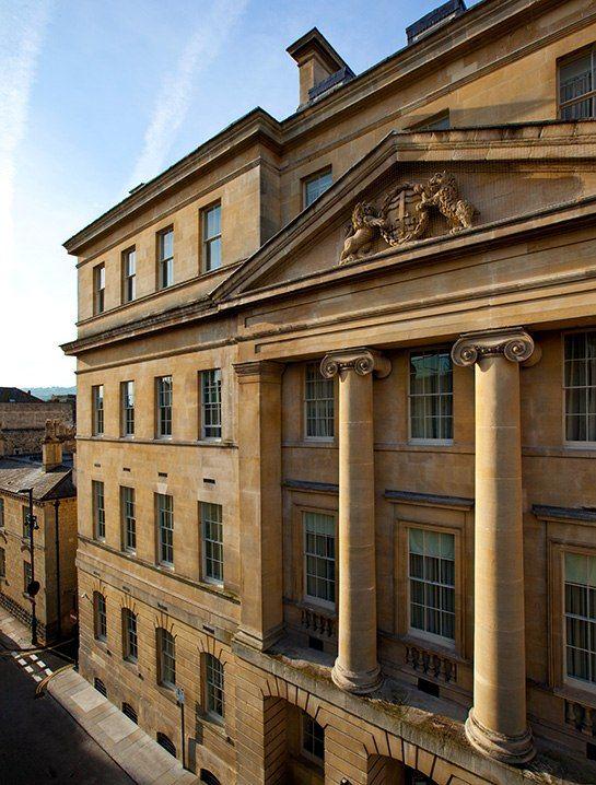 The limestone façade of the Gainsborough Bath Spa, a new hotel in Bath, England.