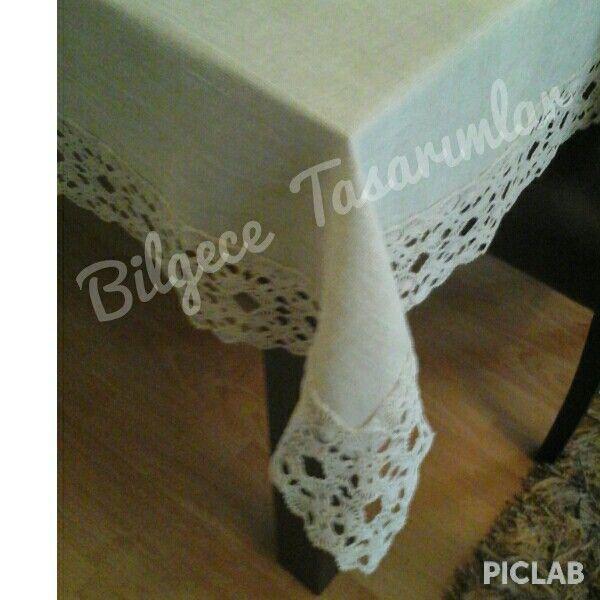 Özel dokuma kumasın   dantelle kombini masa  örtüsü