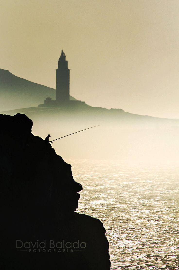 Compañera de pesca by David Balado on 500px Torre de Hércules. A Coruña. Galicia