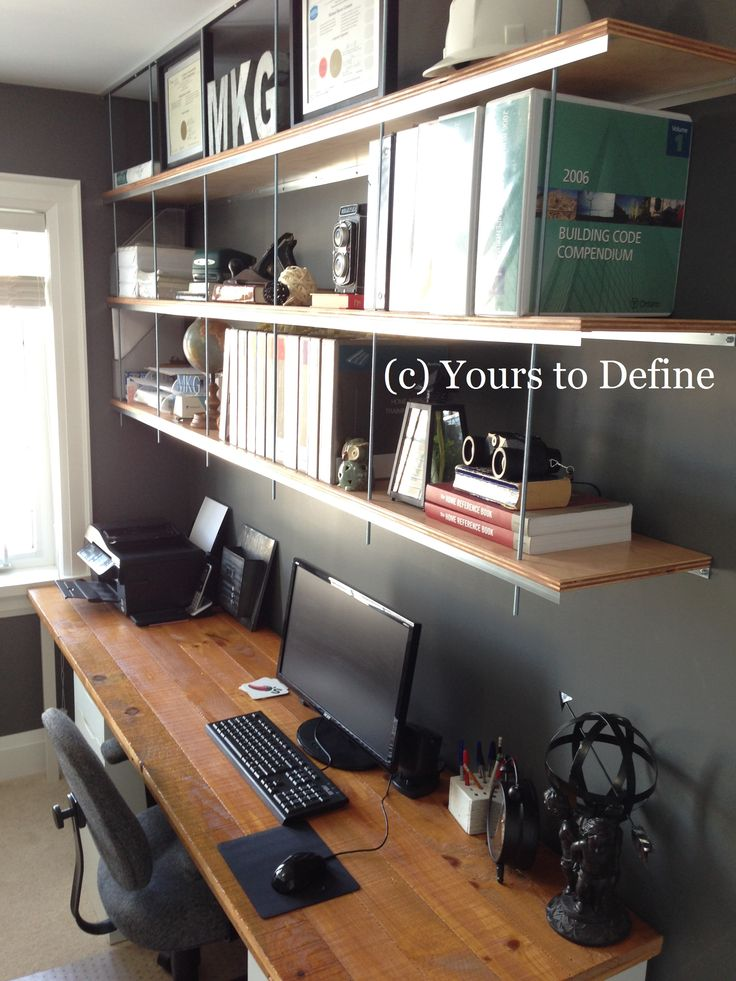 Office Decor: How to style custom Shelving