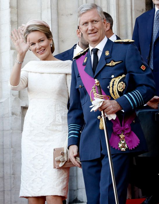 7-21-13. King Philippe and Queen Mathilde of the Belgiums