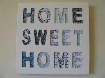 """Clayre & Eef tekstbord """"Home Sweet home"""""""