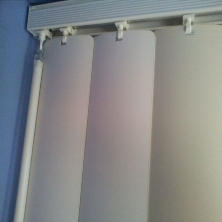 Rigid Pvc Easy Clean Vertical Blinds Replacement Slats Cream or Beige