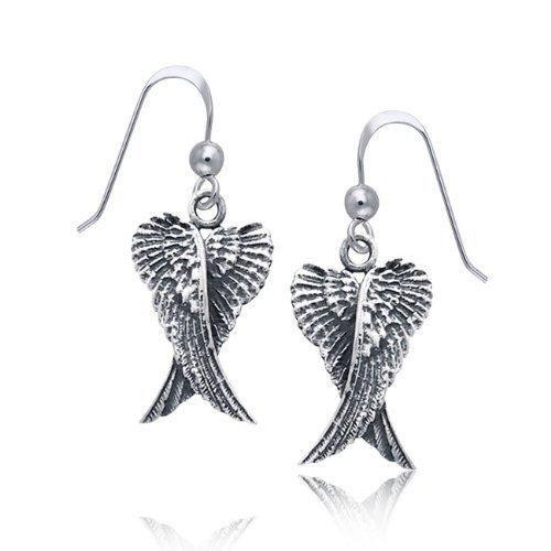 Bling Jewelry Angel Wings Dangle Earrings 925 Sterling Silver