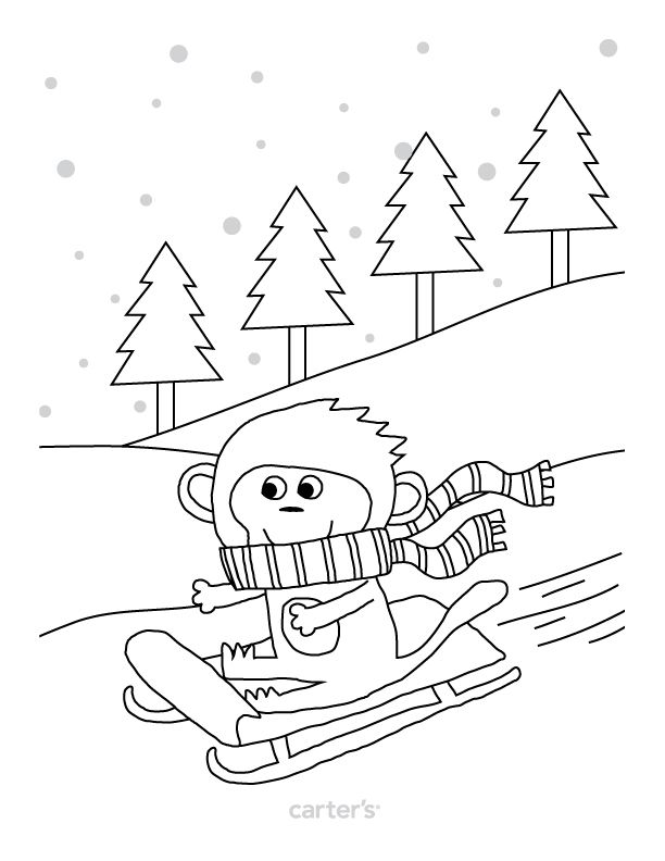 Free printable coloring page from Carter\'s. | To Do | Pinterest ...