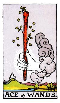 Wands Minor Arcana of the Raider-White tarot I - Spiritual Reading The most common symbols associated with the Ace of Wands are clouds, rivers, and mountains. The Ace of Wands typically signifies the changes in our life path, whether they need to be made or are inevitable. http://www.spiritual-reading.net/wands-raider-white-tarot-i/
