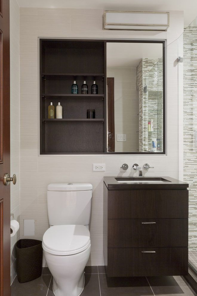 Cabinet Over Toilet With Mirror Bathroom Contemporary With