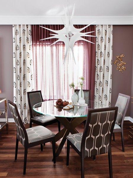 Les 25 meilleures id es de la cat gorie mod les de rideaux sur pinterest rideaux coudre - Rideaux de salle a manger ...
