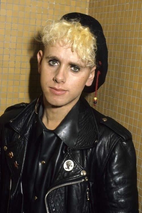 Martin Gore in rubber and leather.