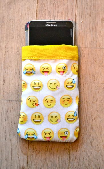 housse portable smiley couture diy