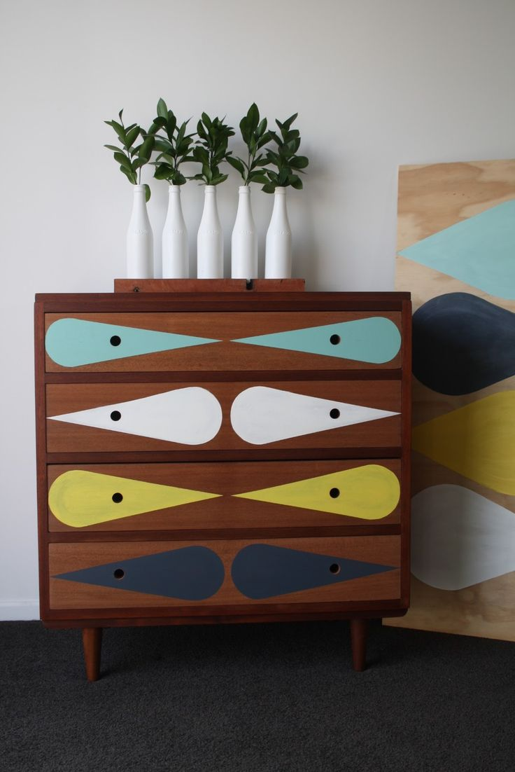 Drawers, furniture (mcm, midcentury, color, modern, home, house, decor, design, interior, retro)