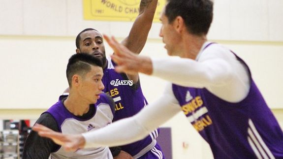 Lakers coach Byron Scott is toying with the idea of giving Jeremy Lin the starting job at the one spot over veteran Steve Nash.