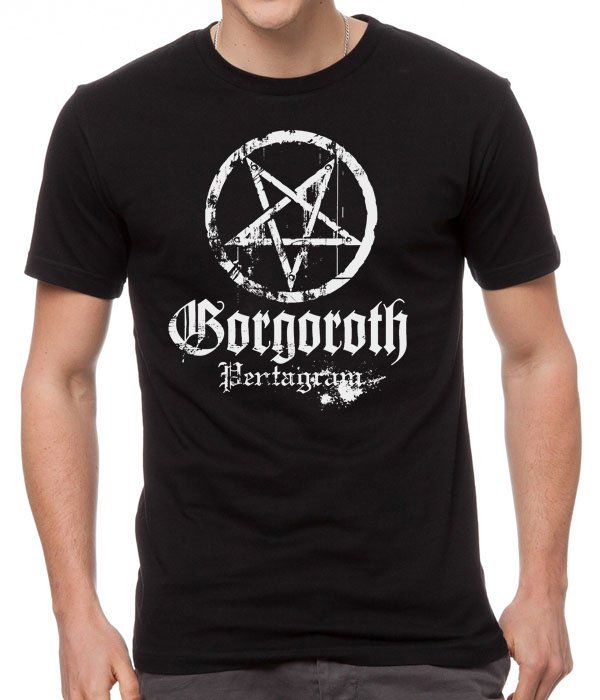 GORGOROTH+pentagram+Black+Men+T-Shirt