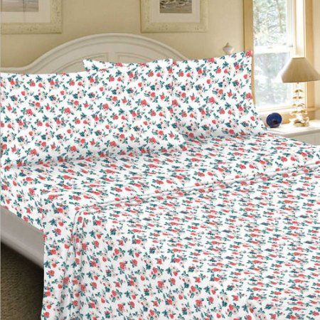 Mainstays 180 Thread Count Sheet Set, Floral Multi Pattern, Multicolor