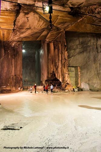 """Inside one of the """"cathedral"""" Carrara Marble Quarries 