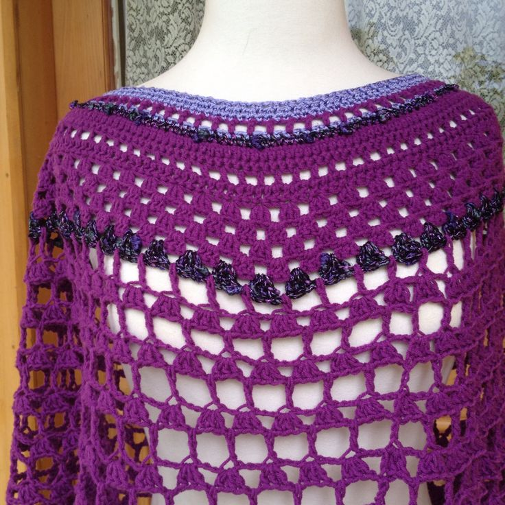 Purple poncho 2014