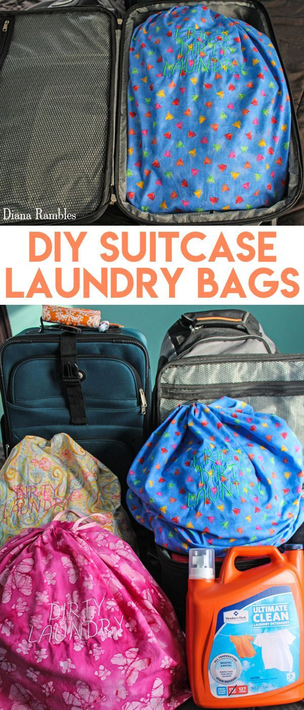 Diy Personalized Suitcase Laundry Bag Sewing Tutorial What Is