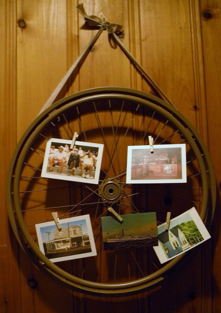 A personal favorite from my Etsy shop https://www.etsy.com/listing/511302743/recycled-wheel-memo-board-burlap-ribbon