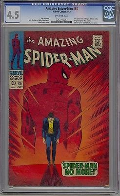 Amazing spider-man #50 cgc 4.5 1st #kingpin #daredevil netflix #looks more like 6,  View more on the LINK: 	http://www.zeppy.io/product/gb/2/400967037417/