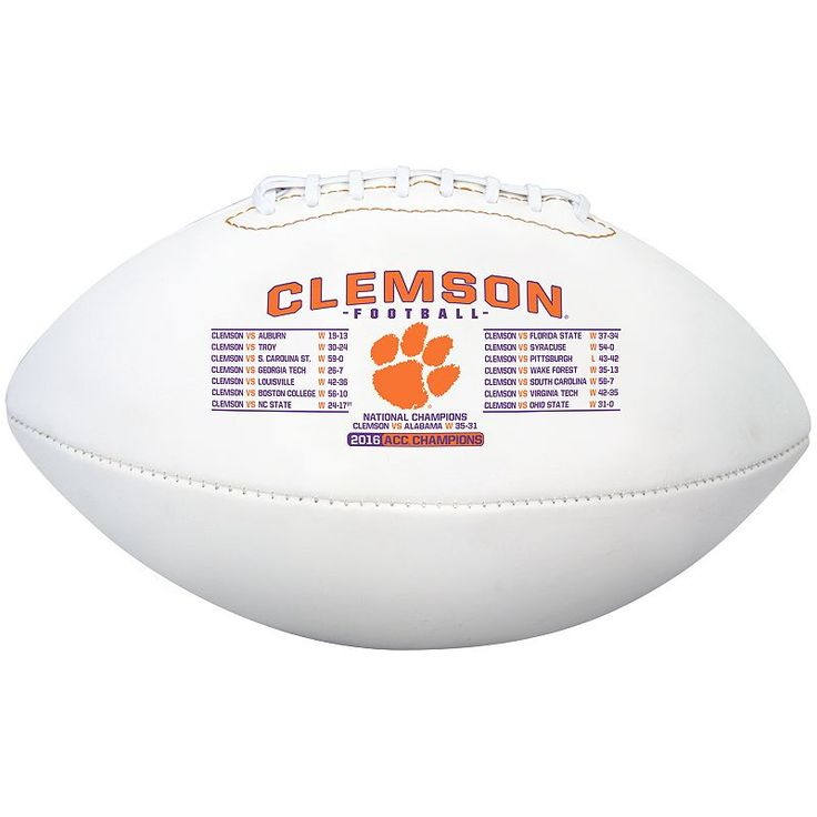 Rawlings Clemson Tigers 2016 College Football Playoff National Champions Official Football, Multicolor
