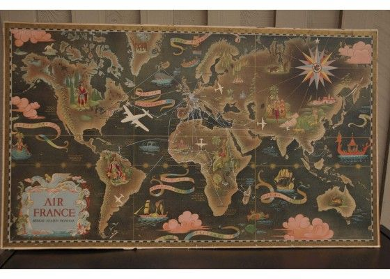 13 best tattoo ideas images on pinterest tattoo ideas antique vintage old world map by air france plane company gumiabroncs Choice Image
