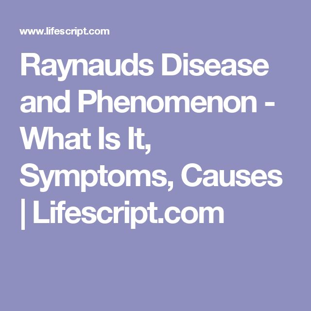 Raynauds Disease and Phenomenon - What Is It, Symptoms, Causes | Lifescript.com
