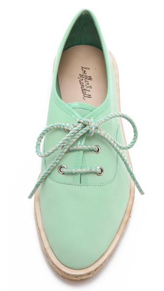 Loeffler Randall / Odile Espadrille Tennis Shoes - mint green