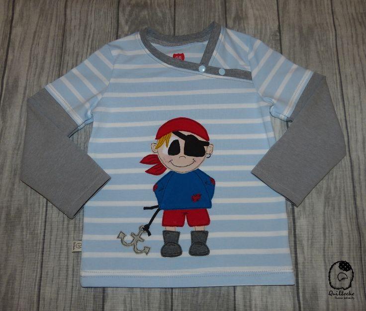 Cooles Piratenshirt  genäht nach dem Schnitt Longsleeve #8 (Mamasliebchen) und einer Applikation von TiLu Design