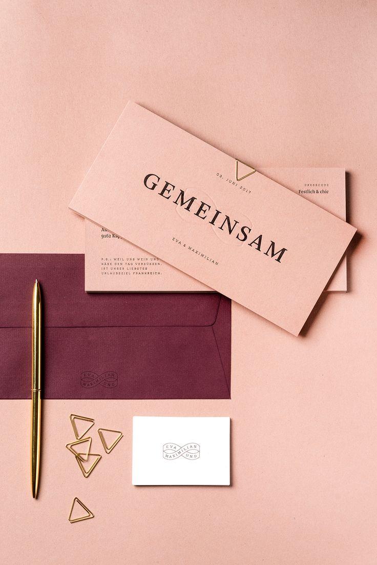 Wedding invitation – Gemeinsam on Behance