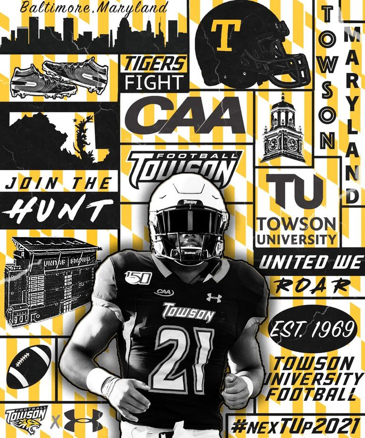 Towson in 2020 Sports graphic design, Towson university