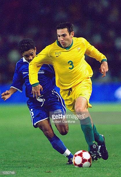 Stan Lazaridis of Australia in action during the Mens Football match against Honduras at the Sydney Football Stadium on Day Four of the Sydney 2000...