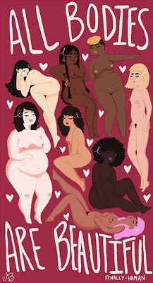 beauty art digital art body positivity diversity artists on tumblr body positive fat acceptance artists of