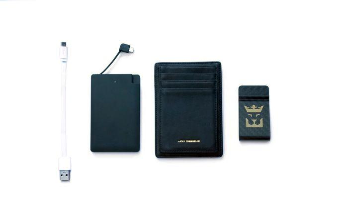 Lion Designs: Wallet w/ Carbon Fiber Clip & Portable Charger by Naman Sharma…