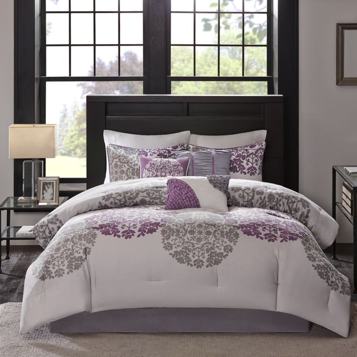 1000 Ideas About Purple And Grey Bedding On Pinterest