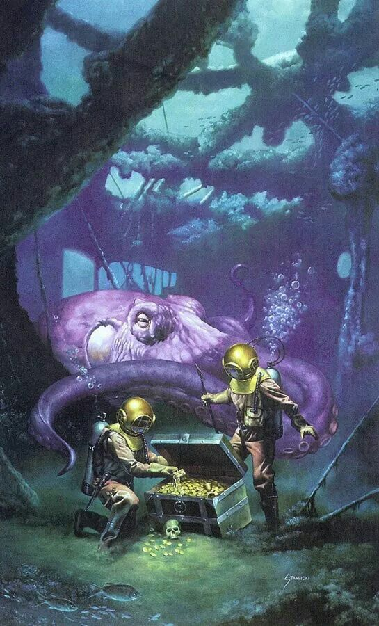642 Best Images About Diving Helmet Amp Ocean Art On