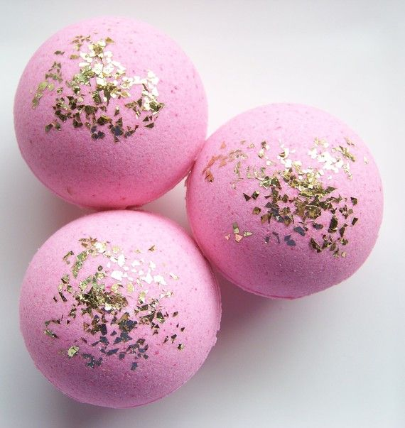 Bath Bomb Confections My Analysis: This gives the idea of adding sparkles to the bath bombs. I love the look of the gold against the soft pink