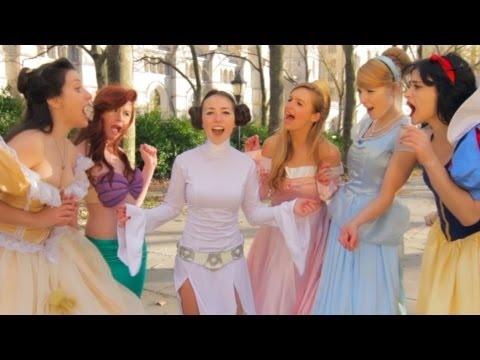 Disney Princesses welcome Princess Leia - the musical! :D #starwars #disney