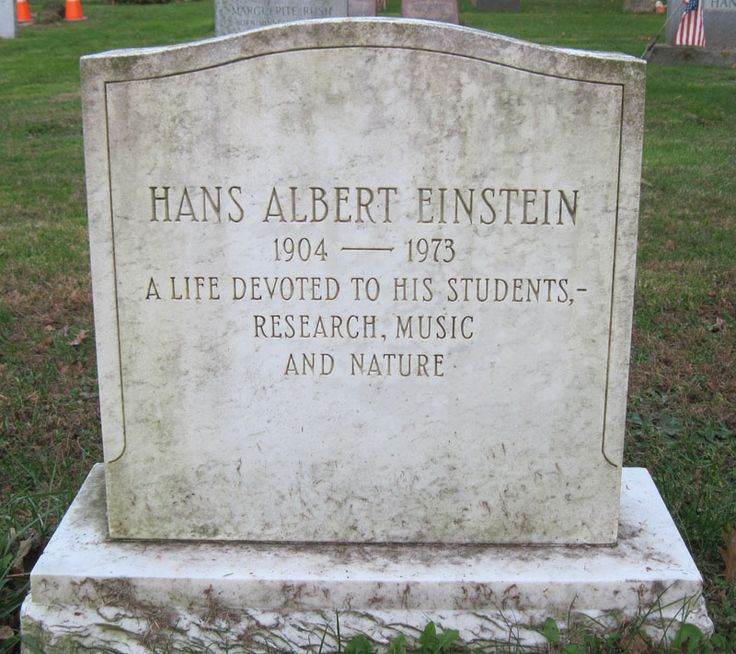 Albert Einstein Grave   Image is scaled. Click image to open at full size.
