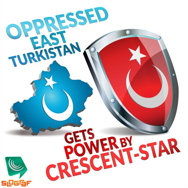 OPPRESSED EAST TURKISTAN   Gets Power by Crescent-Star   #SloGraf ©MDT01E   Commercial Use requires permit!