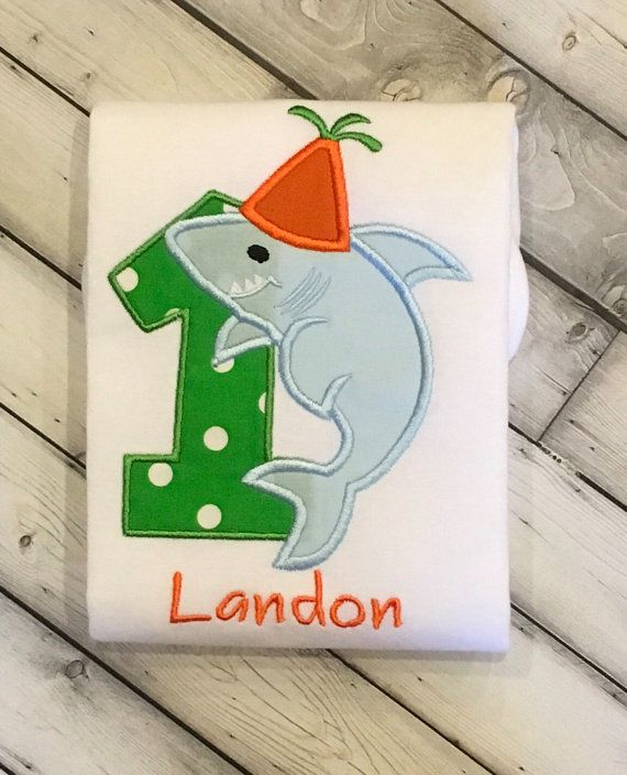 Shark First Birthday Shirt Available in by LilStytchesBoutique