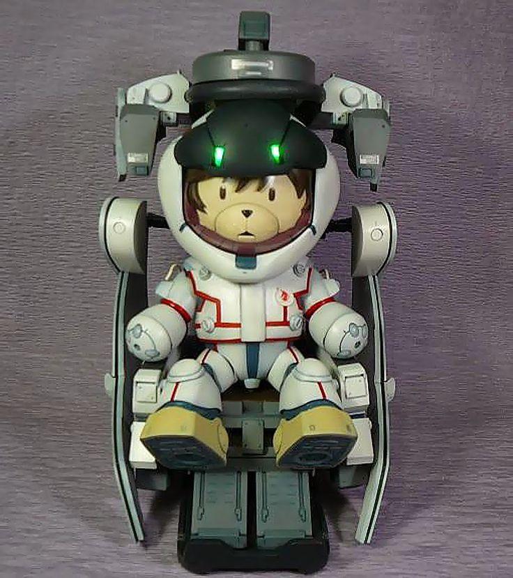 GUNDAM GUY: 1/144 BearGGuy III Banagher Links + Unicorn Gundam Cockpit - Diorama Build