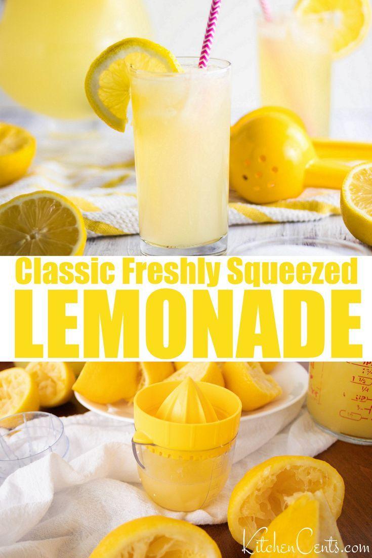 Classic Lemonade Recipe | Real Simple |Real Pitcher Of Lemonade