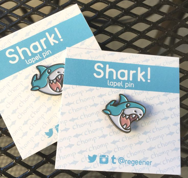 Cutie Shark Soft Enamel Pin by ReginaLegaspi on Etsy