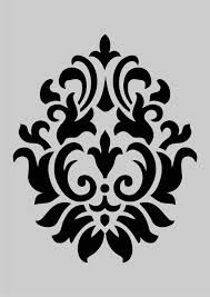 damask stencil for furniture - Google Search                                                                                                                                                                                 More