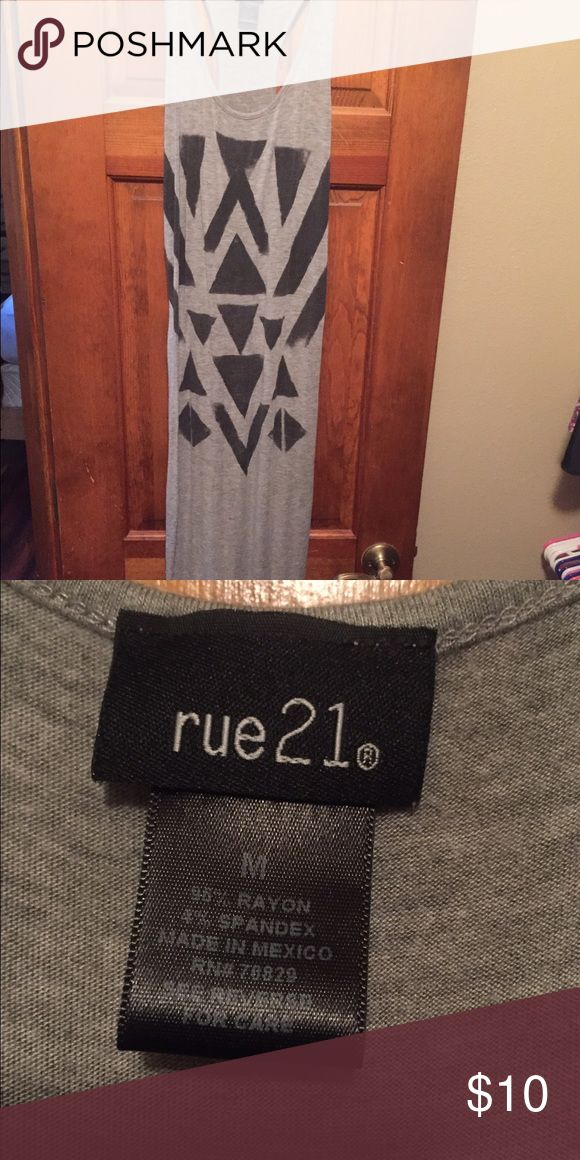 Rue 21 long tight dress Very stretchy material. Size small black and gray Rue 21 Dresses