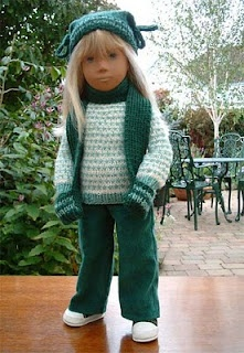 18'' Doll Pattern - Hat and Mitten-Scarf Knitting Pattern